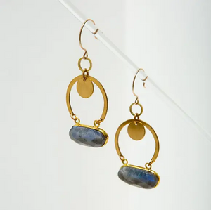 geneva earrings - labradorite