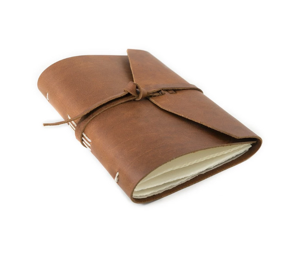 Observer Leather Journal in Saddle