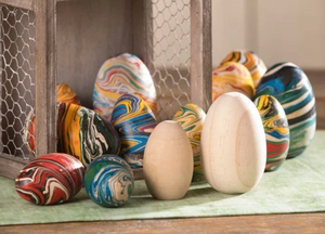 Workshop - Marbled Wooden Easter Eggs