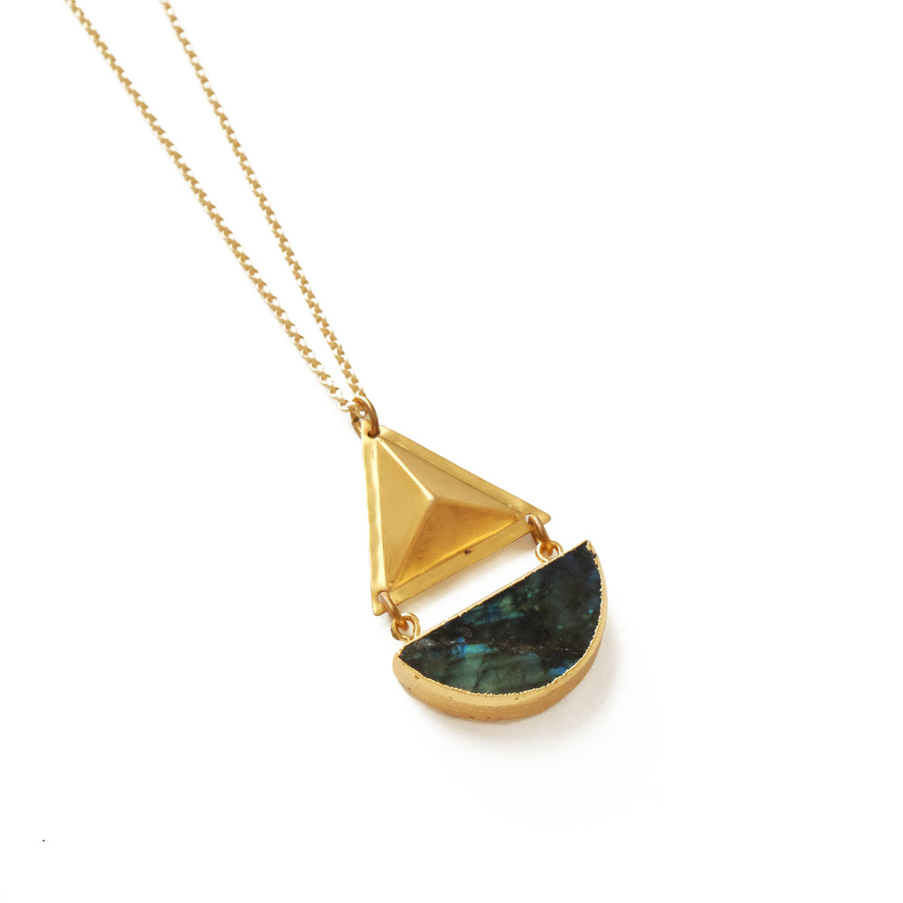 Larissa Loden Jewelry  - Labradorite Geo Necklace