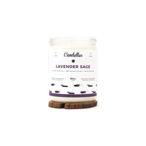 Candelles Candles - Lavender Sage Scented Soy Candle - 16oz.