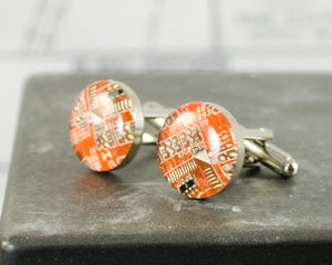 Circuit Breaker Labs - Orange Cufflinks