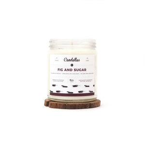 Candelles Candles - Fig & Sugar Scented Soy Candle - 9oz.