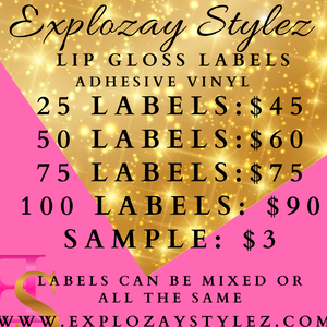 Lip Gloss Vinyl Labels
