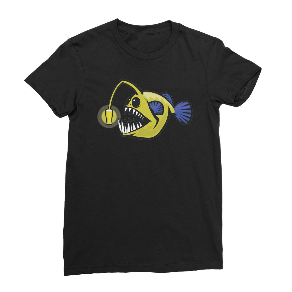 EVOLUTION OF THE ANGLERFISH Women's Fine Jersey T-Shirt - Shirts&Giggles.com