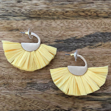 venice beach raffia earrings