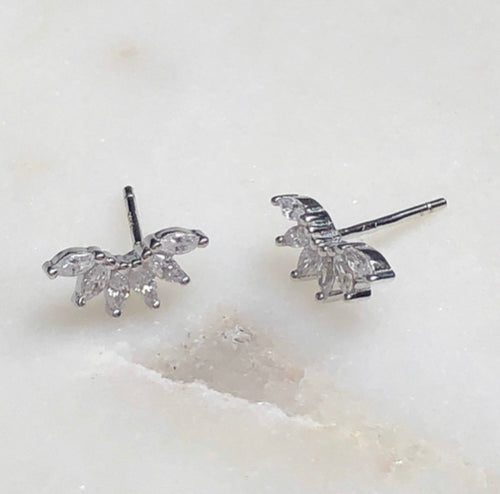 grateful fringe mini stud earrings