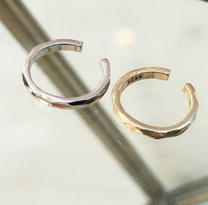 hammered cuff earring