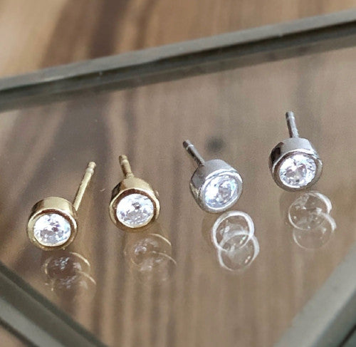 lora stud earrings