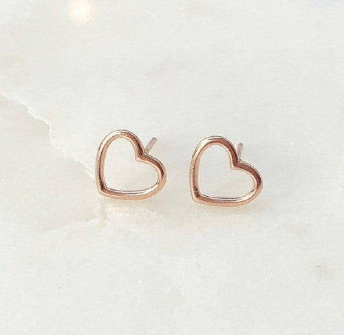 grateful heart stud earrings