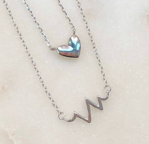 grateful heartbeat necklace