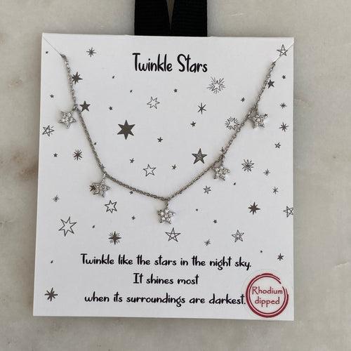 twinkle stars necklace