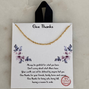 give thanks necklace