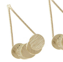 Cassia disc earrings