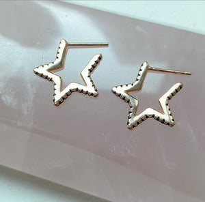 Orion sterling silver star earrings
