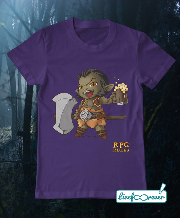 T-shirt uomo RPG rules - Barbaro (viola)