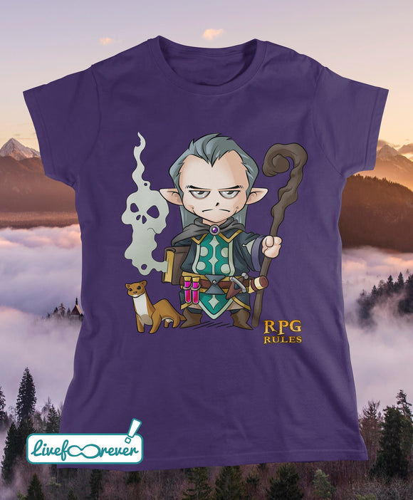 T-shirt donna RPG rules - Mago (viola)