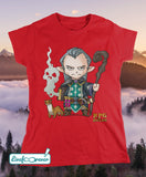 T-shirt donna RPG rules - Mago (rosso)