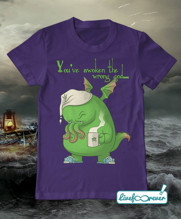 T-shirt uomo - Cthulhu - You've avoken the wrong god