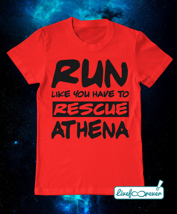 T-shirt uomo – Run like you have to rescue Athena