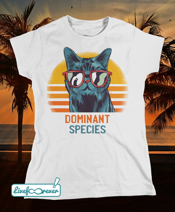 T-shirt gatto donna – Dominant species