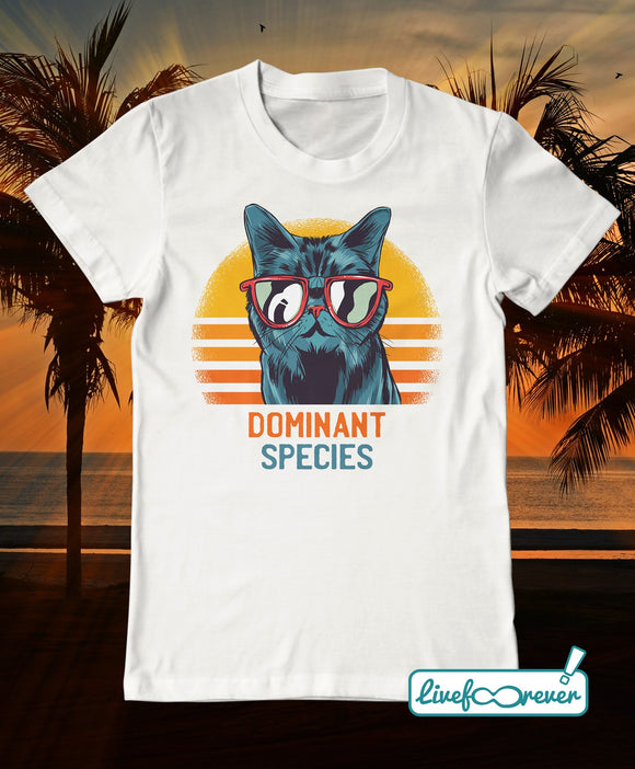 T-shirt gatto uomo – Dominant species
