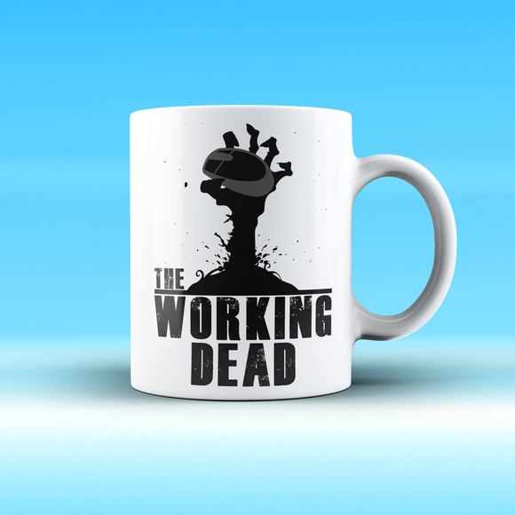 Tazza 325 ml – The working dead (bianco)