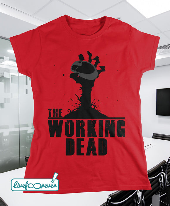 T-shirt donna – The working dead (rosso)