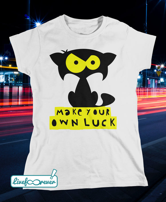 T-shirt gatto donna – Mozart – make your own luck