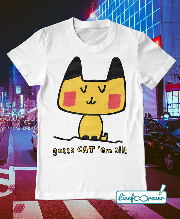 T-shirt uomo – gotta CAT 'em all