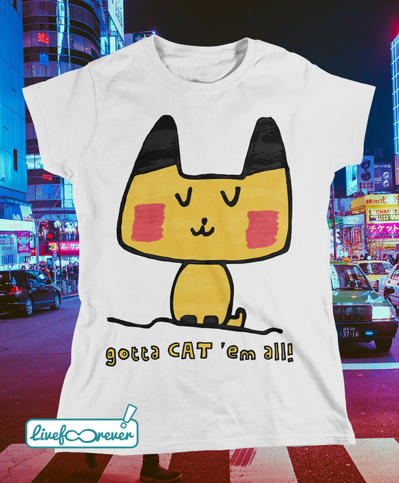 T-shirt donna – gotta CAT 'em all