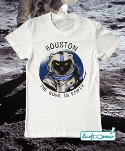 T-shirt gatto uomo – Astrocat – Houston, the bowl is empty