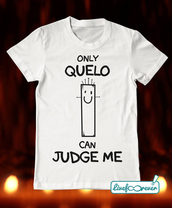 T-shirt uomo – Only quelo can judge me (bianco)