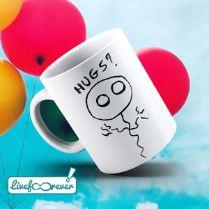 Tazza 325 ml – Pallolo – the ghost balloon – Hugs?