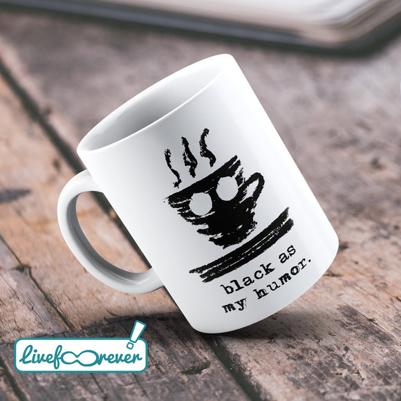 Tazza 325 ml – Funny coffee – Espressino – black as my humor
