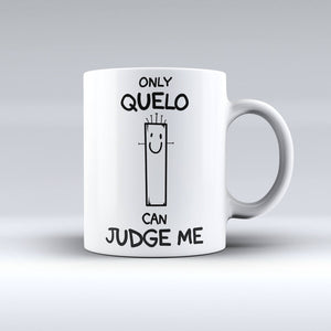 Tazza 325 ml – Only Quelo can judge me (bianco)