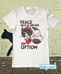 T-shirt gatto uomo – Peace was never an option