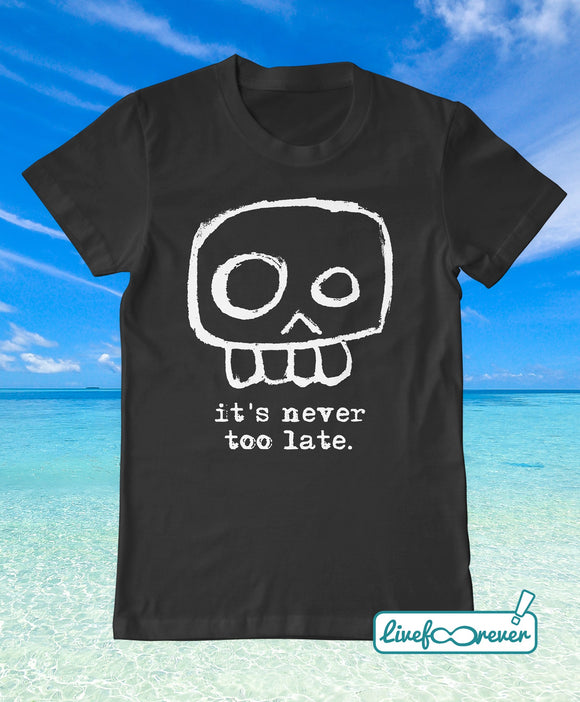 T-shirt uomo teschio – Agent Skully – It's never too late.