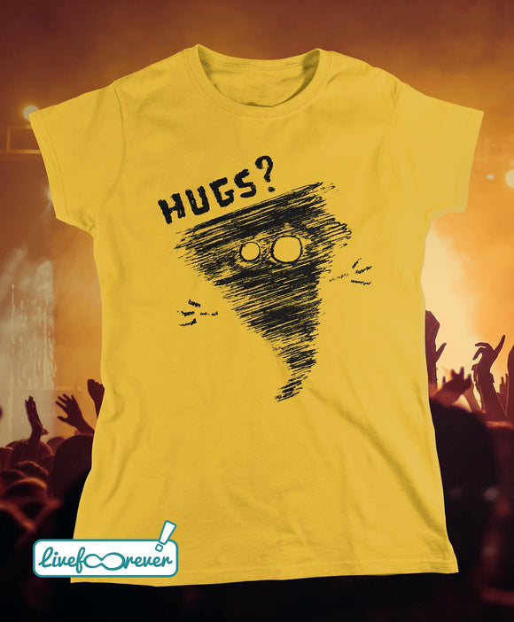 T-shirt donna - Alfonsino the hurricane - Hugs? (giallo)