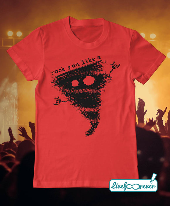 T-shirt uomo - Alfonsino the hurricane – Rock you like a hurricane (rosso))