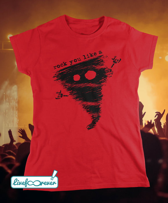 T-shirt donna - Alfonsino the hurricane – Rock you like a hurricane (rosso)