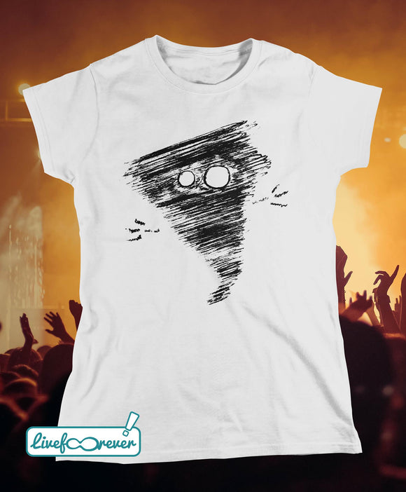 T-shirt donna - Alfonsino the hurricane (bianco)