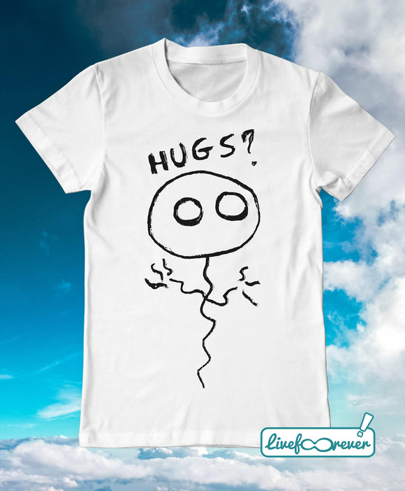 T-shirt uomo – Pallolo the ghost balloon – Hugs? (bianco)