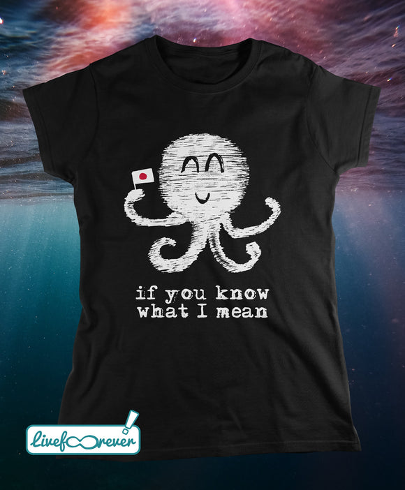 T-shirt donna Saputello the artRist – Inko – il dolce polpo hentai – If you know what I mean