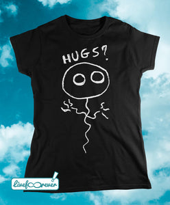 T-shirt donna – Pallolo the ghost balloon (nero)