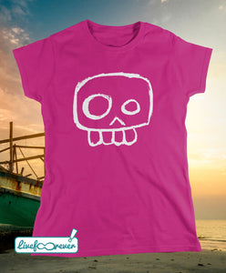 T-shirt donna teschio – Agent Skully