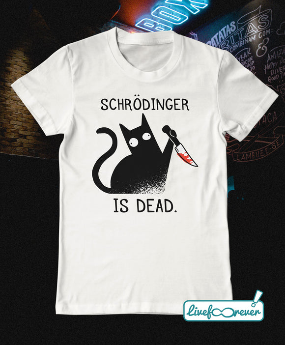T-shirt gatto uomo – Schrodinger is dead