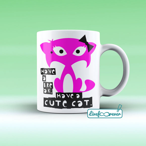 Tazza 325 ml – Glorious Feline Master Race – Flare – have a break, have a cute cat.