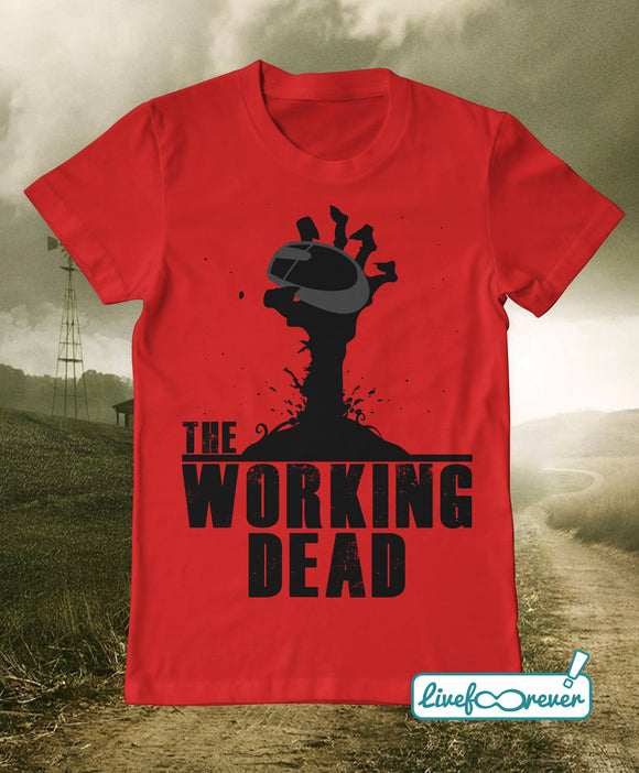 T-shirt uomo – The working dead (rosso)