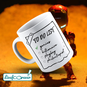 Tazza 325 ml – To do list: genius, billionaire, playboy, philantropist
